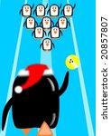 penguin christmas bowling... | Shutterstock .eps vector #20857807