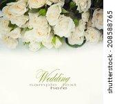 Stock photo white roses 208588765