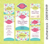 set of wedding cards. wedding... | Shutterstock .eps vector #208593949