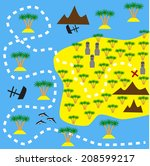 map   Shutterstock .eps vector #208599217