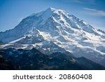 Close View Of Mount Rainier On...