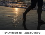 footprints in the sand  in the... | Shutterstock . vector #208604599