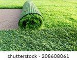 Green Artificial Grass Soccer...