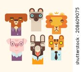 animals set | Shutterstock .eps vector #208609075