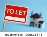 Real Estate Agent To Let Sign...