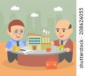 business businessman client... | Shutterstock .eps vector #208626055