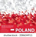 Stock vector abstract poland art polish flag vector art 208634911