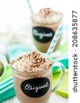gourmet original cold chocolate ... | Shutterstock . vector #208635877