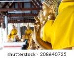 golden buddha statues  | Shutterstock . vector #208640725