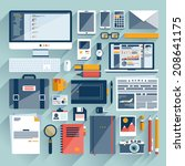 flat icon vector collection... | Shutterstock .eps vector #208641175