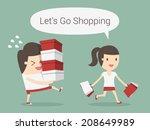 shopping | Shutterstock .eps vector #208649989
