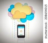 smart cloud | Shutterstock .eps vector #208654015