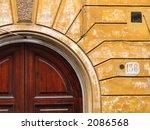Decorative Wooden Ebony Door  ...