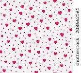 hearts pattern | Shutterstock .eps vector #208662565