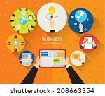 creative business and office... | Shutterstock .eps vector #208663354