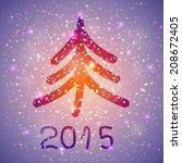 vector christmas background | Shutterstock .eps vector #208672405