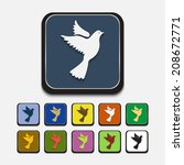 colored icons  dove | Shutterstock .eps vector #208672771
