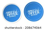 special offer stickers | Shutterstock .eps vector #208674064