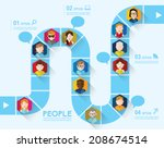 people icon conceptual vector... | Shutterstock .eps vector #208674514