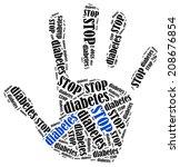 Stop Diabetes. Word Cloud...