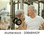 Cute Smiling Senior Couple...