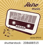retro music background   old... | Shutterstock .eps vector #208688515