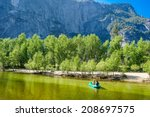 Boat On Merced River Yosemite...