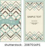 set of invitation cards on... | Shutterstock .eps vector #208701691