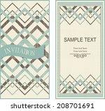 set of invitation cards on... | Shutterstock .eps vector #208701691