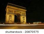 arc de triomphe de nuit champs... | Shutterstock . vector #20870575