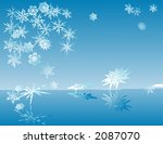 reflecting snow flakes | Shutterstock .eps vector #2087070