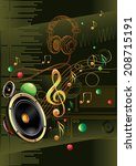 speaker   notes modern music... | Shutterstock .eps vector #208715191