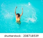 top view of a  girl in the...   Shutterstock . vector #208718539