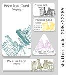 vector.vector. business card... | Shutterstock .eps vector #208722289