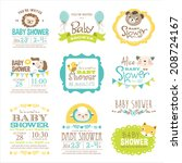 baby arrival and shower... | Shutterstock .eps vector #208724167
