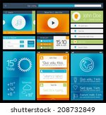 ui set of flat web design...