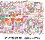 retirement planning as a... | Shutterstock . vector #208732981