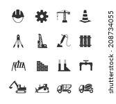 construction icon | Shutterstock .eps vector #208734055