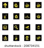 shopping icons | Shutterstock .eps vector #208734151