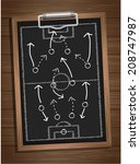 writing a soccer game strategy... | Shutterstock .eps vector #208747987