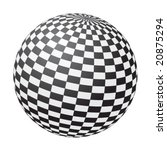 Black And White Chessboard Ball