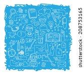 hand drawn vector illustration... | Shutterstock .eps vector #208753165