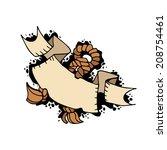 vector illustration ship rope...   Shutterstock .eps vector #208754461