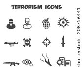 terrorism icons  mono vector...   Shutterstock .eps vector #208756441