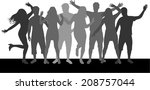 party people | Shutterstock .eps vector #208757044