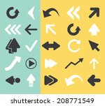 arrow  direction black flat... | Shutterstock .eps vector #208771549