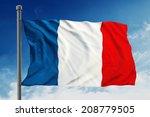 france flag on sky background   Shutterstock . vector #208779505
