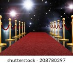 red carpet night illuminated... | Shutterstock . vector #208780297