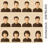 Vector Design Of People Avatar...