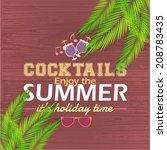 hello summer  holiday  travel... | Shutterstock .eps vector #208783435